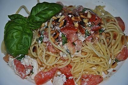 Spaghetti mit Burrata und Tomaten 2