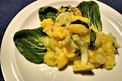 Kartoffelsalat mit Mini Pak Choi (Bild)