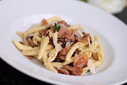Pasta mit Radicchio und Prosciutto 3