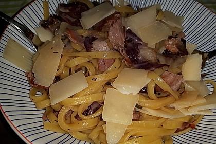 Pasta mit Radicchio und Prosciutto 6