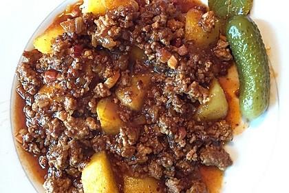 Bratkartoffeln mit Beamtenstippe 2