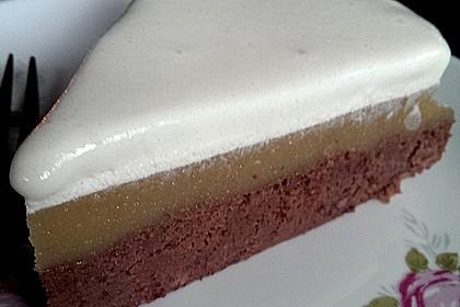 Apfelmus-Sahne-Torte