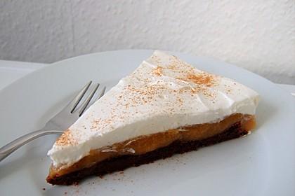 Apfelmus-Sahne-Torte 1