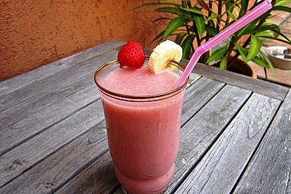 Erdbeer-Hafer-Milchshake