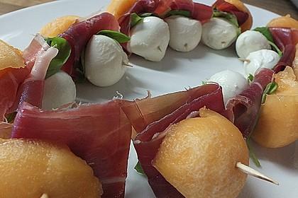 Melonen-Mozzarella-Prosciutto-Sticks 15