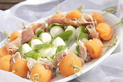 Melonen-Mozzarella-Prosciutto-Sticks 6