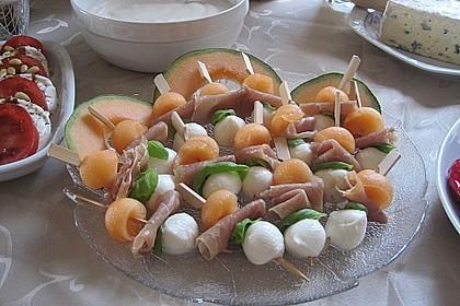 Melonen-Mozzarella-Prosciutto-Sticks 13