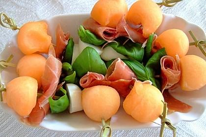 Melonen-Mozzarella-Prosciutto-Sticks 9