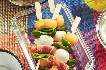 Melonen-Mozzarella-Prosciutto-Sticks 18