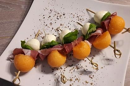 Melonen-Mozzarella-Prosciutto-Sticks 4