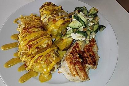Ofenkartoffeln mit Käse und Hähnchen