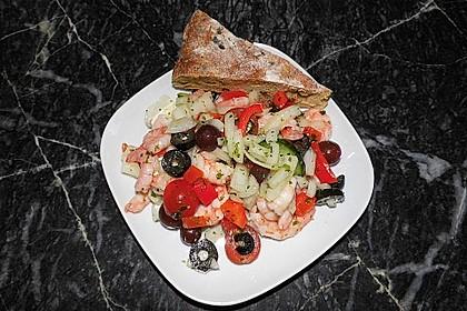 Garnelensalat, pikant und fruchtig