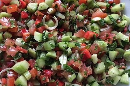 Arabischer Salat mit Minze Zitronendressing 3
