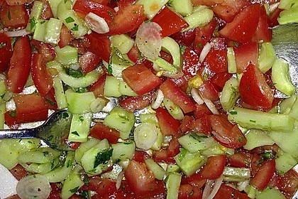 Arabischer Salat mit Minze Zitronendressing 4