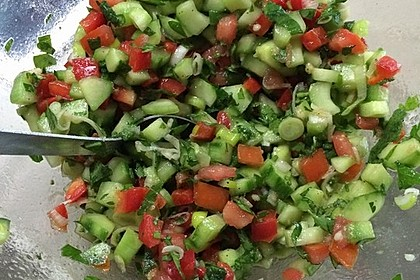 Arabischer Salat mit Minze Zitronendressing 1