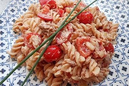 Nudelsalat mit Thunfisch ohne Mayo 3