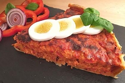 Vegetarische Paprika-Zwiebel-Quiche 11