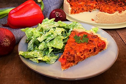 Vegetarische Paprika-Zwiebel-Quiche 22
