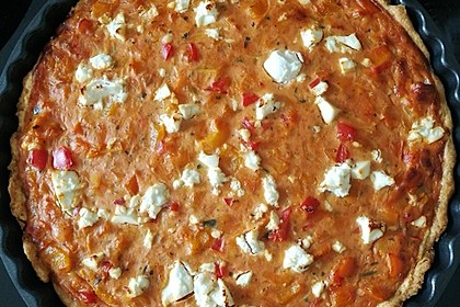 Vegetarische Paprika-Zwiebel-Quiche 16