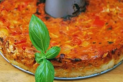Vegetarische Paprika-Zwiebel-Quiche 8