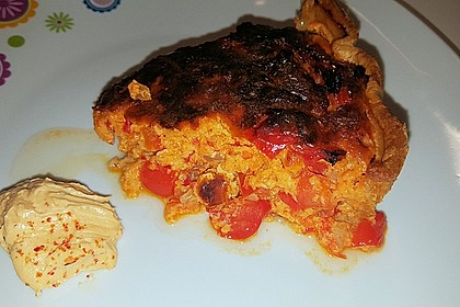 Vegetarische Paprika-Zwiebel-Quiche 35