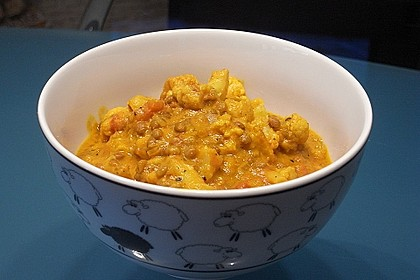 Urmelis Blumenkohl-Linsen-Kokos-Curry auf die Schnelle