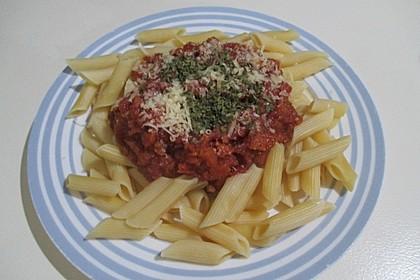 Pasta mit Tomaten-Süßkartoffel-Karotten-Sauce 1