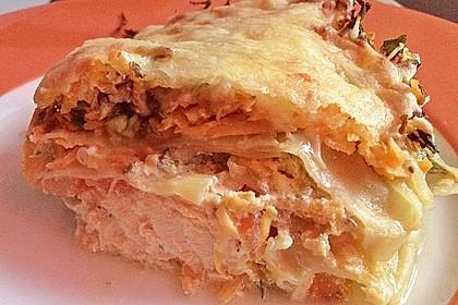 Lasagne mit Lachs und Süßkartoffeln