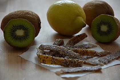 Saure Schnüre aus Kiwi-Fruchtleder