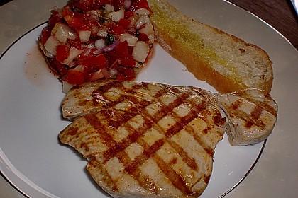 Gegrillter Fisch mit scharfer Pfirsich Salsa 1