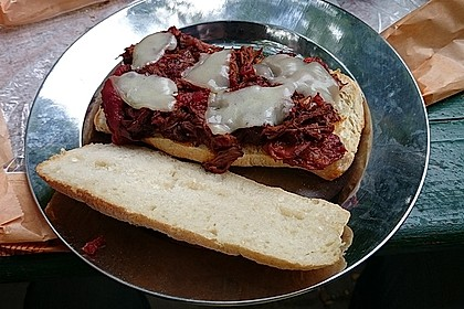 Hot and Spicy Italian Beef Drip Sandwiches 1