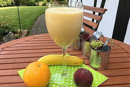 Pfirsich-Bananen-Smoothie (Bild)