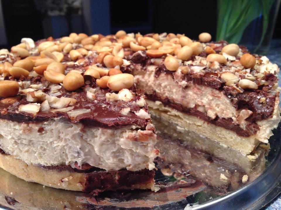 New York Cheesecake Mit Erdnussbutter Und Schokolade Von