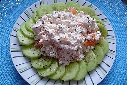 Gurken-Carpaccio mit körnigem Frischkäse 3