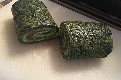 Lachs-Spinat-Rolle mit Cashew-Avocado-Salat 1