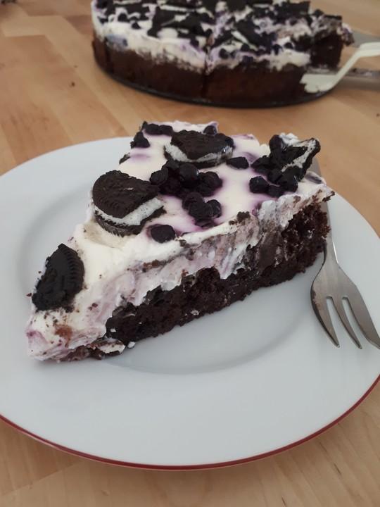 Heidelbeer Quark Torte Mit Oreo Und Brownieboden Von Looanaa