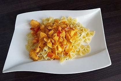 Pasta mit Lachs-Sahnesauce 13