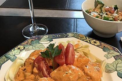 Pasta mit Lachs-Sahnesauce 9