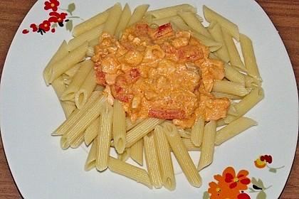 Pasta mit Lachs-Sahnesauce 14