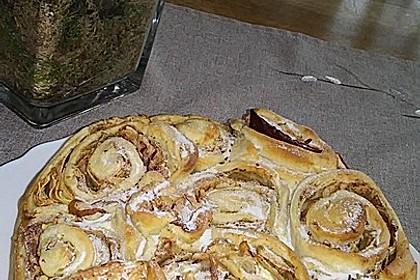 Apfel-Rosenkuchen 1