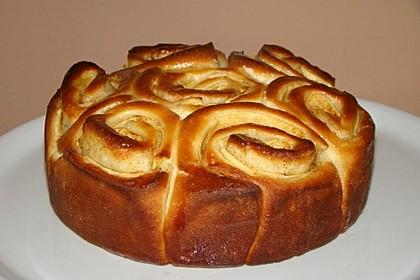 Apfel-Rosenkuchen