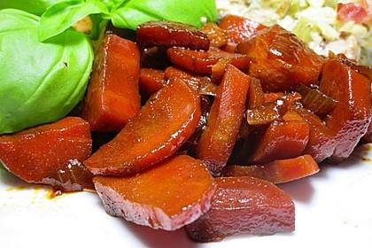 Süßlich-pikantes Karottengemüse mit Sojasauce und Ingwer 1