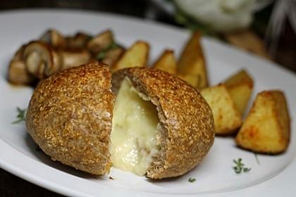 Camembert in Hackfleisch 3