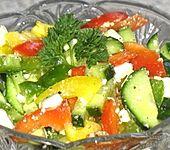 Paprika-Käse-Salat (Bild)