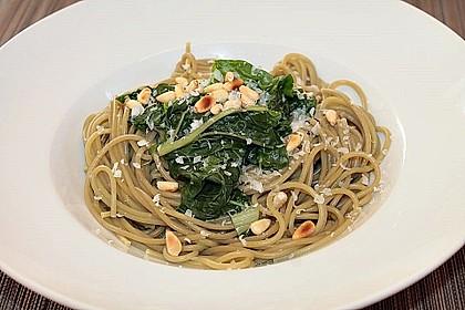 Spaghetti mit Mangold 2