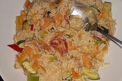 Leckeres Gemüse-Thaicurry mit Reis à la Trine