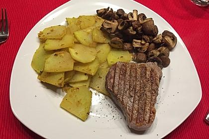 Falsche Bratkartoffeln mit Hüttenkäse