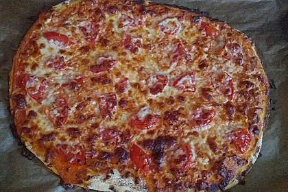 Frischkäse-Pizza