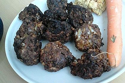 Tofu-Kokos-Bällchen mit Ananassauce (Bild)