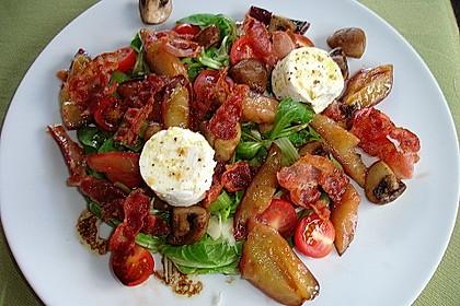 Salat mit mariniertem Ziegenkäse und Zwetschgen 1